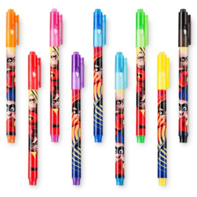 Disney Store Incredibles Erasable Markers, Set of 9