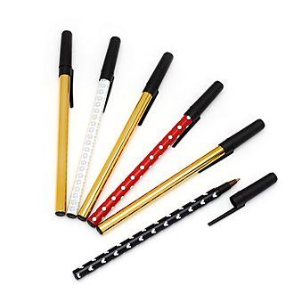 Bolígrafos Mickey, colección Mixed-Up, Disney Store (6 u.)
