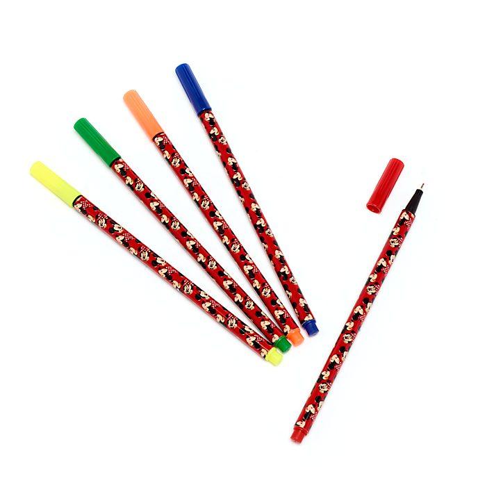 Bolígrafos colores Minnie y Mickey Mouse, Disney Store