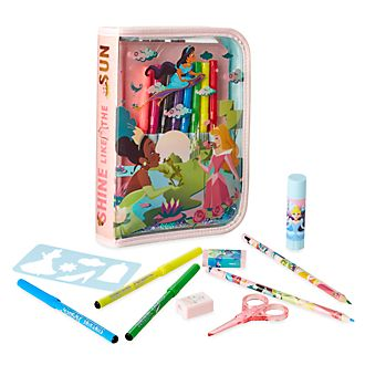 Set papelería con cremallera princesas Disney, Disney Store