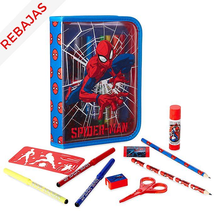 Set papelería con cremallera Spider-Man, Disney Store