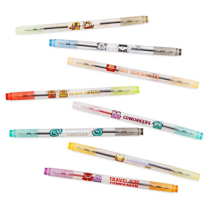 Set de bolígrafos de dos puntas, Disney Store (8 u.)