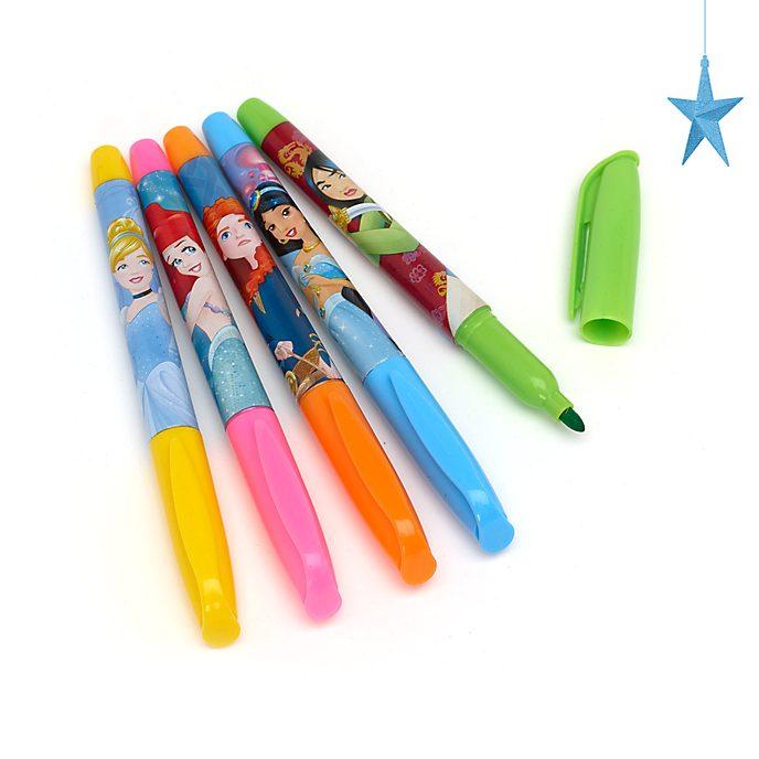 Set 5 pennarelli lavabili Principesse Disney, Disney Store