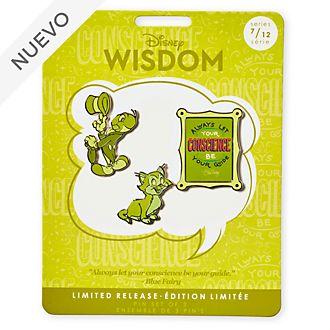 Set de pines Pinocho, Disney Wisdom, Disney Store (7 de 12)