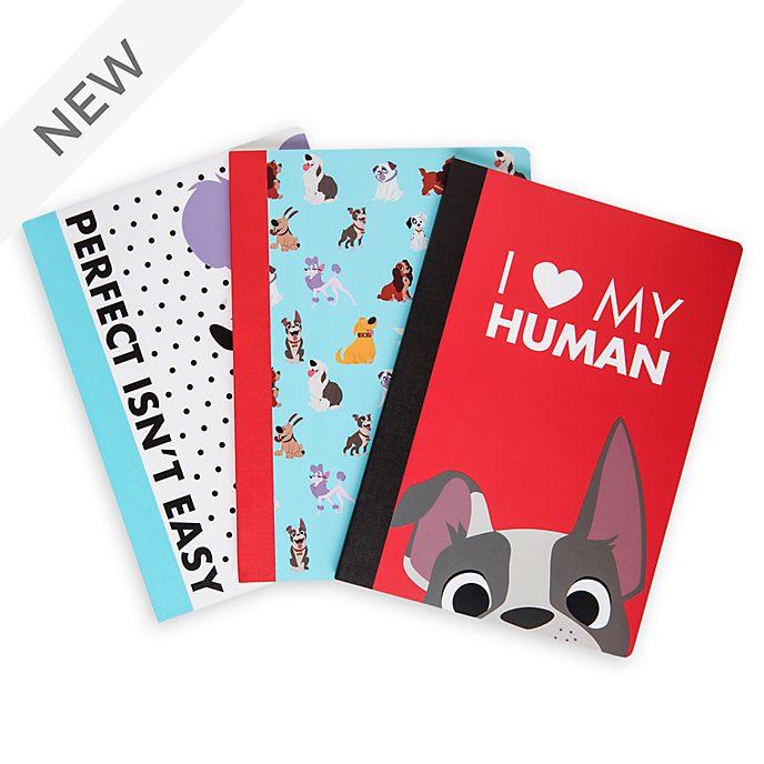 Disney Store Oh My Disney Dogs Notebooks, Set of 3