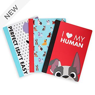 Disney Store Oh My Disney Dogs Notebooks, Set of 3