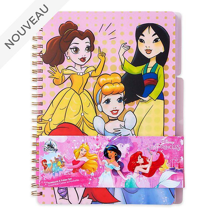 Disney Store Ensemble Cahier et Chemise Princesses Disney