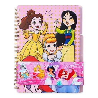 Disney Store - Disney Prinzessin - Set mit Notizbuch und Ordner