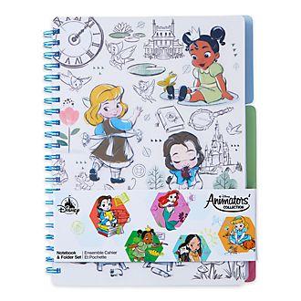 Disney Store Lot cahier et chemise Animator Disney Store