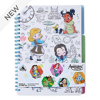 Disney Store Disney Animators' Collection Notebook and Folder Set
