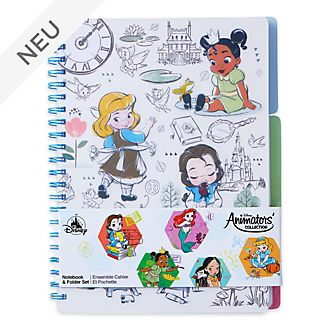 Disney Store - Disney Animators Collection - Set mit Notizbuch und Ordner