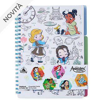 Set quaderno e raccoglitore collezione Disney Animators Disney Store
