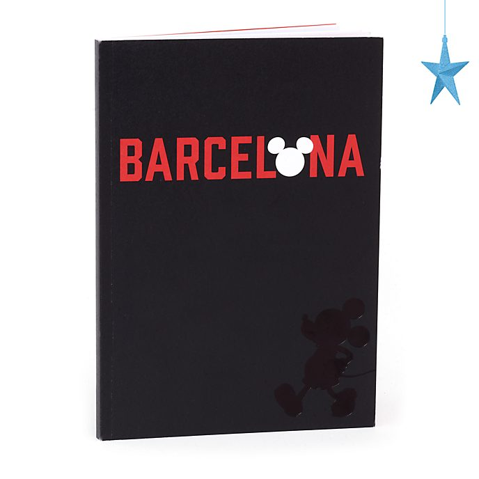 Disney Store Mickey Mouse Barcelona A5 Notebook