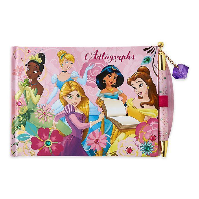 Disney Store Lot stylo et carnet d'autographes Princesses Disney