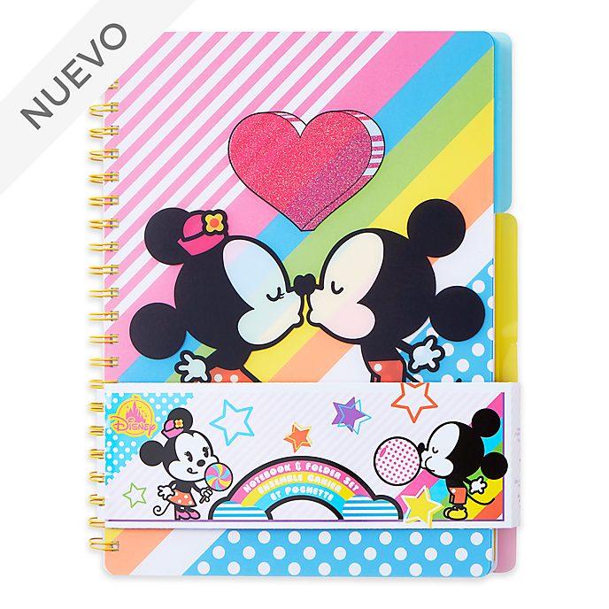 Set cuaderno y carpeta Mickey y Minnie, Disney Store