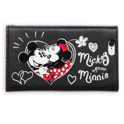 Portefeuille et pochette de téléphone Mickey et Minnie Mouse