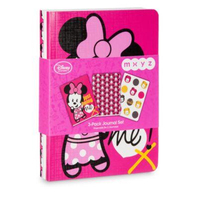 Minnie Mouse MXYZ notesbøger, sæt med 3 stk.