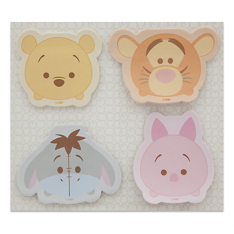 Winnie the Pooh Tsum Tsum Sticky Notes, Set of 4