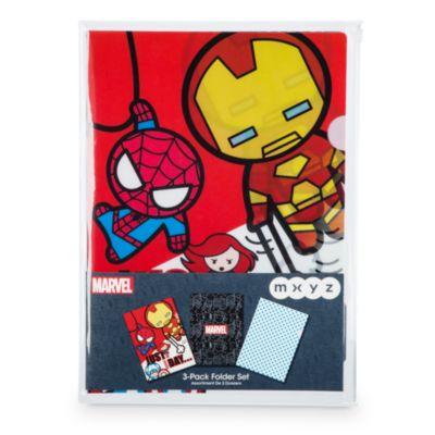 Carpetas MXYZ Marvel, set de 3