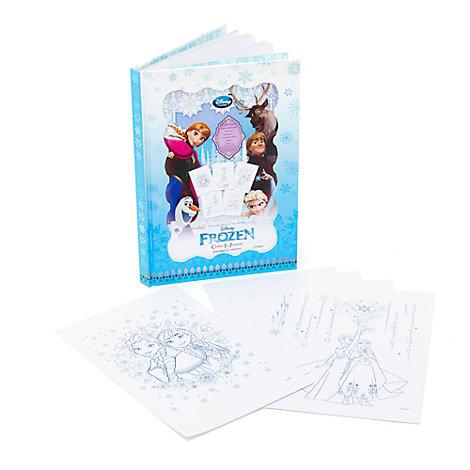 Diario colorear Frozen