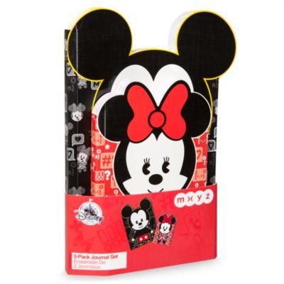 Sæt med 2 Mickey og Minnie MYXZ notesbøger