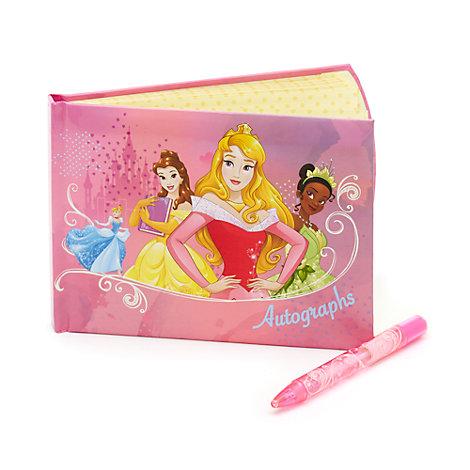 Disney Prinsessor autografbok och penna