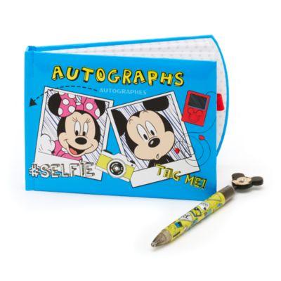 Carnet d'autographes avec stylo Mickey et ses amis