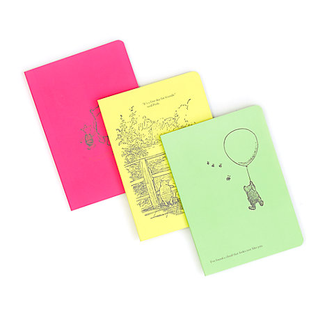 Winnie the Pooh A6 Journals, Set of 3