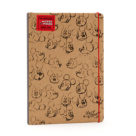 Mickey Mouse Sketch Brown A5 Notebook