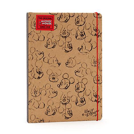 Cuaderno A5 marrón Mickey Mouse Sketch