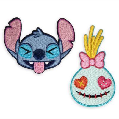Écussons autocollants Disney Emoji Stitch et Souillon