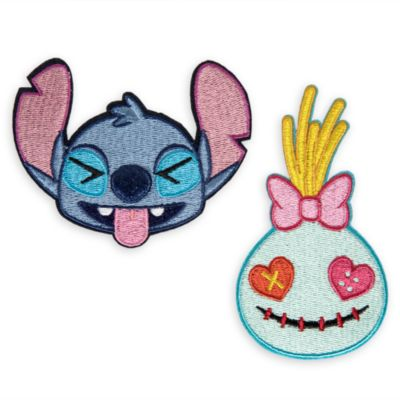 Parches adhesivos Stitch y Scrump, Disney Emoji
