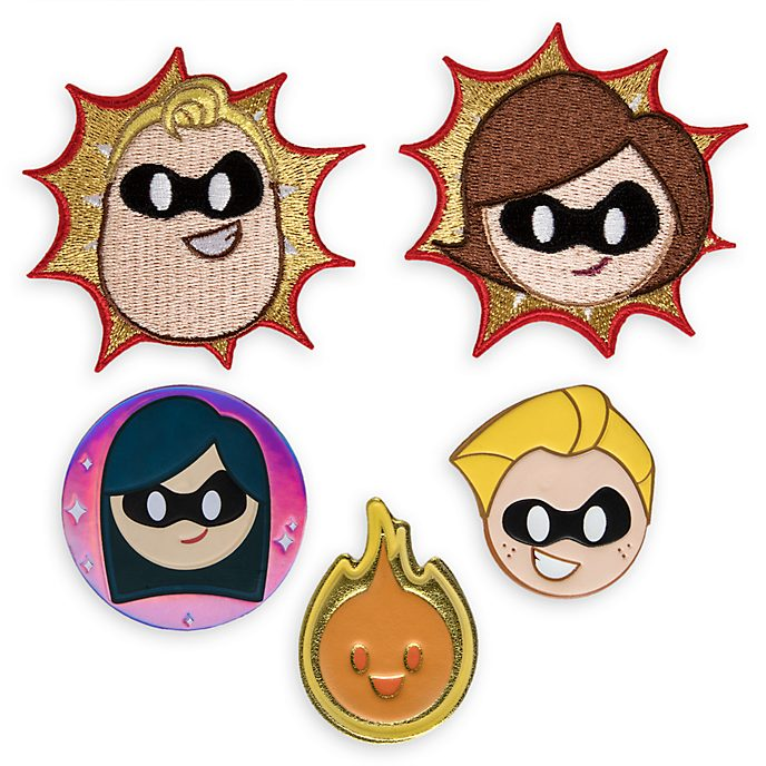Parches adhesivos Los Increíbles 2, Disney Emoji, Disney Store