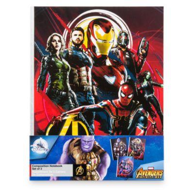 Ensemble de 3cahiers Avengers: Infinity War Disney Store