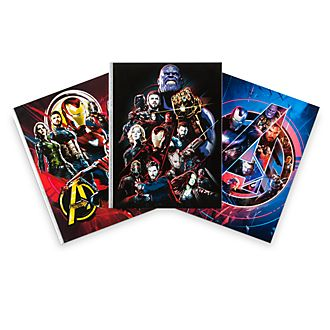 Disney Store Avengers: Infinity War Notebooks, Set of 3