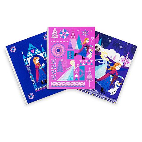 Disney Store Frozen Notebooks, Set of 3