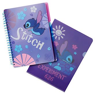 Lot cahier+dossier Stitch Disney Store