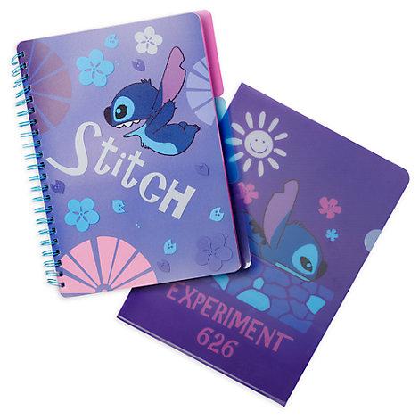 Disney Store - Stitch - Set aus Notizbuch und Ordner