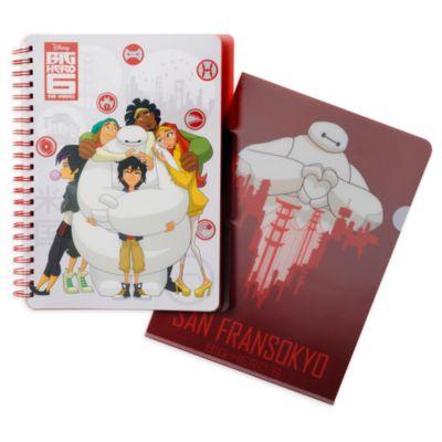 Lot cahier+dossier Les Nouveaux Héros Disney Store