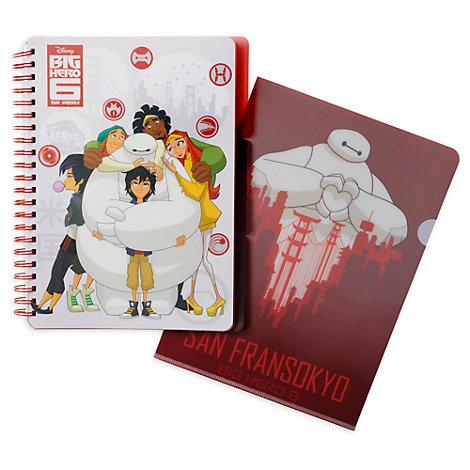 Disney Store - Baymax - Riesiges Robowabohu - Set aus Notizbuch und Ordner