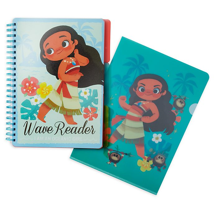 Disney Store Moana Notebook and Folder Set