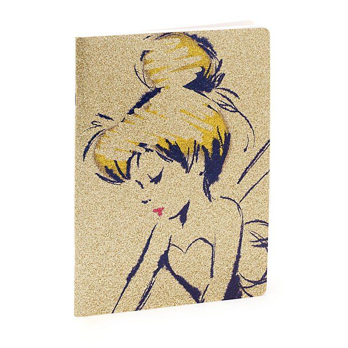 Disney Store Cahier Fée Clochette doré