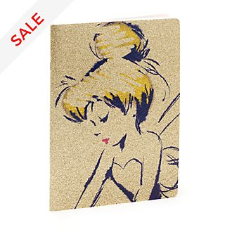 Disney Store Tinker Bell Golden Notebook