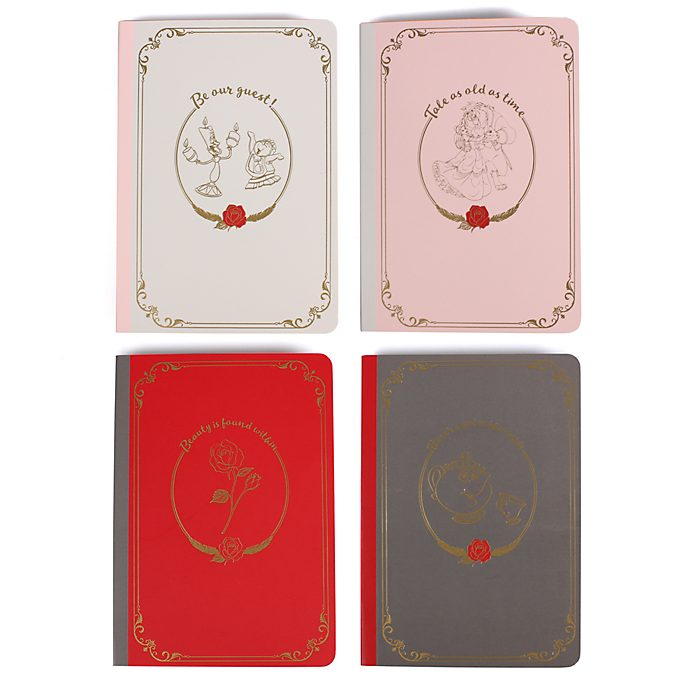 Beauty and the Beast Notebooks, Set of 4