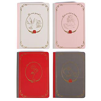Die Schöne und das Biest - Notizbücher - 4er-Set