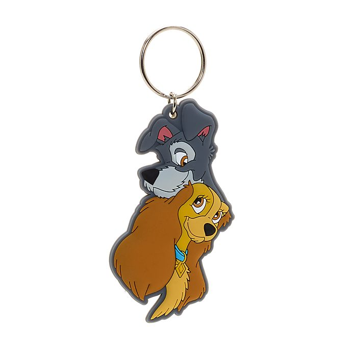 Disney Store Lady and the Tramp Keyring