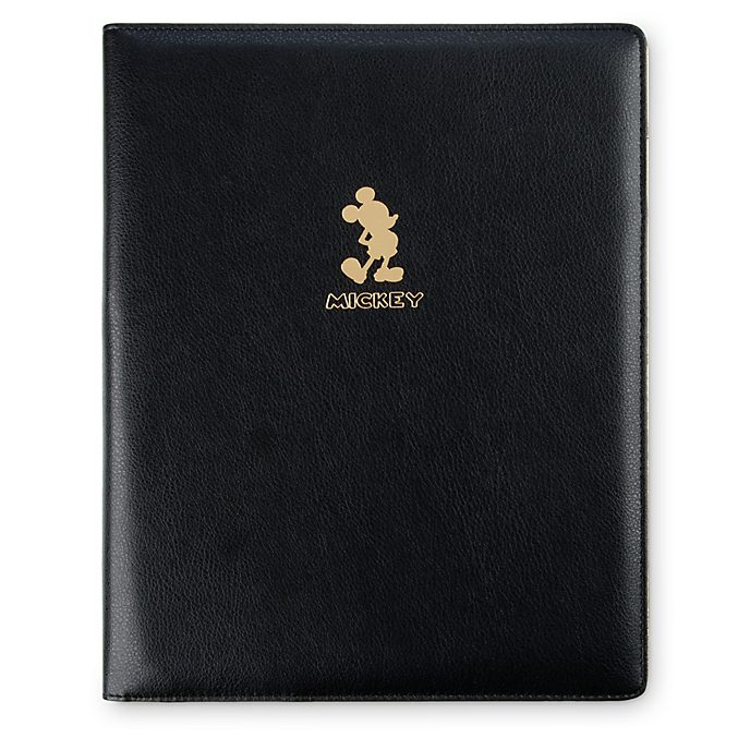 Disney Store Mickey Mouse Gold Collection Deluxe Padfolio