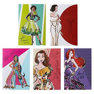 Disney Store Lot de cartes de correspondance Disney Princesses Premiere