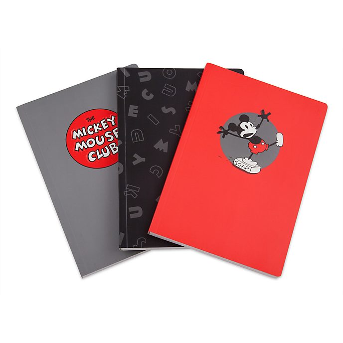 Disney Store Mickey Mouse Notebooks, Set of 3