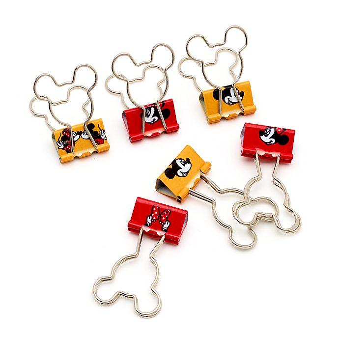 Disney Store Mickey and Minnie Bulldog Clips